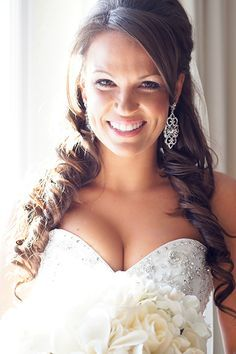 Half-up, half-down wedding hairstyle