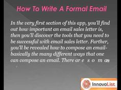The importance of writing a catchy subject line is much more than the importance of writing text in the body. Half the purpose of your email resolves when you read the subject line. So, learn how to write it through this simple app available for free here. http://innateapps.com/HowToWriteSuccessfulEmails.php