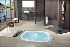 Built in bath... simple and chic