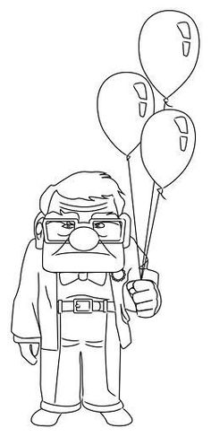 How to Draw Carl from Up. The movie Up is about an elderly man named Carl Fredricksen who embarks on a grand adventure after his wife passes away. With the help of a wacky supporting crew (a young boy scout, a talking dog, and a large. Easy Disney Drawings, Disney Character Drawings, Disney Drawings Sketches, Cute Easy Drawings, Art Drawings Sketches Simple, Pencil Art Drawings, Doodle Drawings, Drawing Disney, Disney Characters To Draw