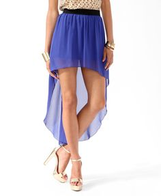 High-Low Chiffon Skirt | FOREVER21 - 2000035465