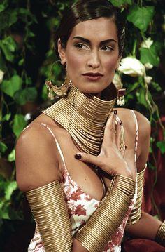 Défilé Dior printemps-été 1998, bijoux africains