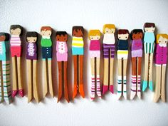 ** please DO NOT PURCHASE UNLESS YOU ARE LISARACHEL**    five cusom order clothespin dolls! ready for fun and games :)  (dolls in photos are