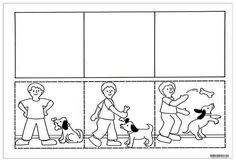 Sequência para produção de texto. O menino e o cão