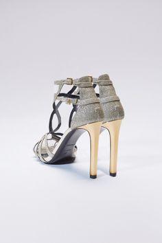 Laminated python sandals Shoes Roberto Cavalli