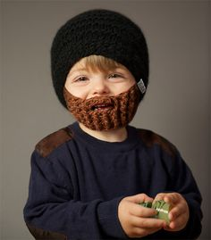 If I had a kid, I know what he'd be wearing in winter.. ;-)  Image of Beardo Beard Hat - KIDS