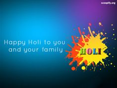 Best Holi Images To Shower Your Feelings On Your Loved Ones ----  #10. Best wishes for a happy holidays