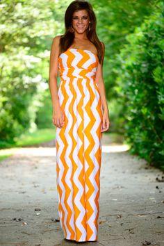 Zigzag Up Maxi, Orange/White