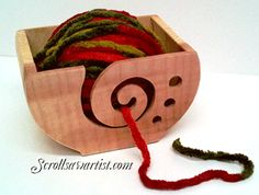 Scroll Saw Patterns :: Handy items :: Other :: Yarn bowl -