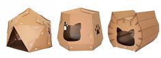 Modern Cardboard Cat Houses from Cacao Furniture