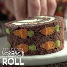 Food Obsessions: Chocolate Carrot Cake Roll