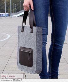 Tutorial jak uszyć torebkę z filcu z kieszonką z eko-sk… na Stylowi.pl