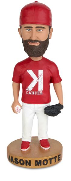 "On Tuesday, September 2nd, the Cardinals and pitcher Jason Motte will join forces to fight cancer during the 2014 Strike Out Cancer Theme Night at Busch. Fans who purchase the special Strike Out Cancer Theme Ticket will receive a ticket to the game as well as a one-of-a-kind Jason Motte bobblehead featuring the Cardinals pitcher in his popular ""K Cancer"" t-shirt."