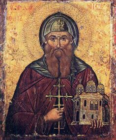 Full of Grace and Truth: St. Dionysios the Righteous of Olympus, and his Monastery Religious Images, Religious Icons, Religious Art, Greek Icons, Paint Icon, Orthodox Icons, Sacred Art, Illuminated Manuscript, Byzantine