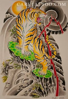Japanese Tiger tattoo design