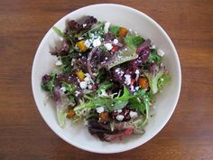 Fall Salad with Pomegranate, Butternut Squash, and Feta