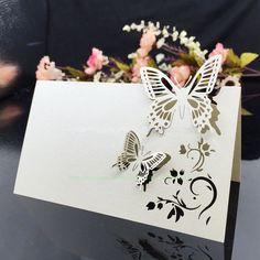 marque place   papillon     decoration    table    mariage    anniversaire  bapteme fete  decochic