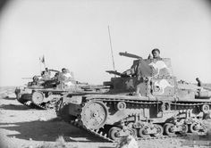 Australian troops using captured Italian tanks, North Africa, Jan 1941 Australian Desert, North African Campaign, Italian Army, Afrika Korps, Armored Fighting Vehicle, Ww2 Tanks, Battle Tank, Panzer, Armored Vehicles