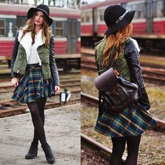 """Wild Child"" by Iga W., 19 yr old from Poland. Backpack, Hat, Coat, Skirt, Jumper"