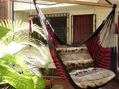 Red and Black Sitting Hammock Hanging Chair Natural by hamanica, $39.00
