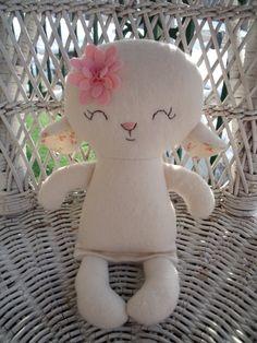My friend Lydia Lamb--a handmade cloth doll made with 100% pure organic cotton flannel. www.dandelionwishesmimi.etsy.com www.facebook.com/dandelionwishesbymimi