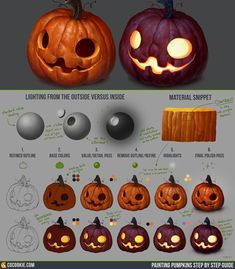 "ART In G 자료 봇 on Twitter: ""할로윈 호박 튜토리얼 (CGCookie) #할로윈 #호박 #채색 #튜토리얼 #자료 #아트인지 #Halloween #Pumpkin #Color #Tutorial #Reference #ArtInG https://t.co/ny0B6XaoIZ"""