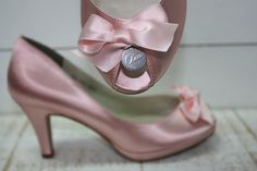 Wedding Shoes In 100 Color Choices - Pink -  Oui Bow Bridal Shoe - Dyeable Satin Wedding Shoes - Peep Toe Shoes Parisxox By Arbie Goodfellow