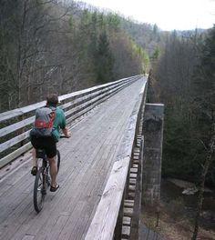 Virginia Creeper Trail, Whitetop, VA-34 miles, 47 bridges and trestles, mountain biking, hiking and horses only!
