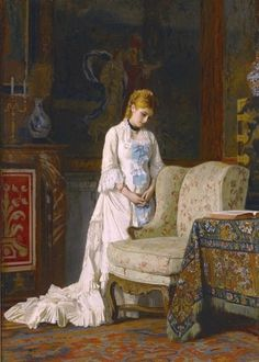 Baugniet, Charles Louis (b,1814)- Father's Favorite Chair, 1875