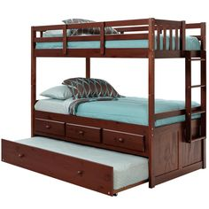 Wildon Home ® Arthur Twin Bunk Bed with Trundle and Storage & Reviews | Wayfair