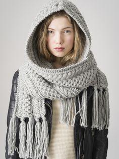 Neulottu huppuhuivi Novita Hile   Novita knits