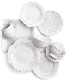 Maison Versailles Blanc Amelie Collection - Casual Dinnerware - Dining & Entertaining - Macy's