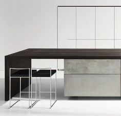 A look at a beautiful kitchen design of concrete that won the 2012 Red Dot Design Award