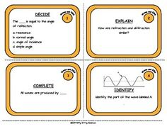 TASK CARDS - WAVES AND ELECTROMAGNETIC SPECTRUM - TeachersPayTeachers.com