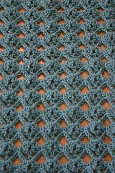 Diamond stitch crochet pattern attached..