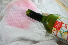 How to Remove Red Wine from Fabric. Red wine is a party and dinner staple, but sometimes, spills happen. The faster you get to the stain, the easier it is to remove. This wikiHow will offer lots of tips and tricks on how to remove red wine. Red Wine Stains, Life Hacks, House Hacks, Laundry Hacks, Clothing Hacks, Cleaners Homemade, Natural Cleaning Products, Cleaning Solutions, Cleaning Tips