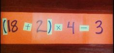 "Order of Operations game - Similar to ""24"""