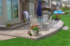 Biondo Cement - Patios Gallery / 21-Stamped-Concrete-Patios-Sterling-Heights-MI-Curved-Front-Patio.jpg
