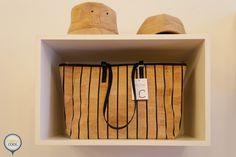 Premium cork stripe tote and cork hats | Lisboa Cool