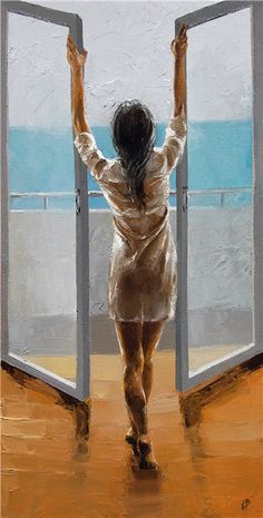 Art The Modern Period| Serafini Amelia|  Victor Bauer 1969 | American Knife Figurative painter | Ocean breeze