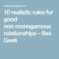 Polyamorous dating rules