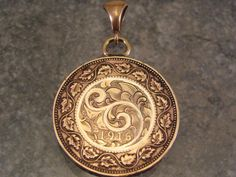 Hey, I found this really awesome Etsy listing at https://www.etsy.com/listing/174755794/hand-engraved-canadian-cent-pendant-with