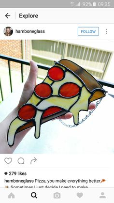 Pizza stained glass. Amazing!