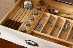 Kitchen drawer organizers wood