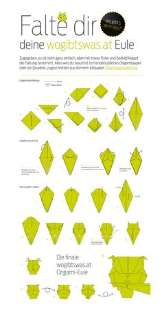 Falte deine eigene wogibtswas.at Origami Eule