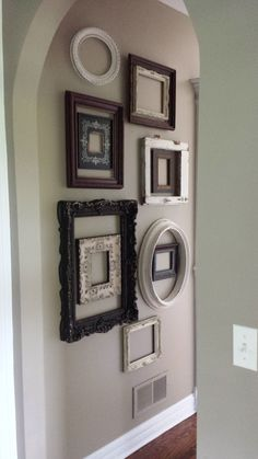 pretty collaged frame wall