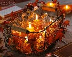 right for fall season! - Fall Candles - Ideas of Fall Candles Fall Arrangements, Thanksgiving Centerpieces, Thanksgiving Table, Autumn Decorating, Fall Candles, Holiday Candles, Happy Fall Y'all, Deco Table, Fall Harvest