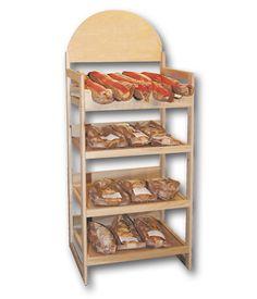 Bakery Bread Rack Display with Header | Retail Display with Header