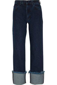 Marques' Almeida Frayed high-rise boyfriend jeans   NET-A-PORTER