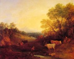 Thomas Gainsborough - Landscape with Cattle, 1773.